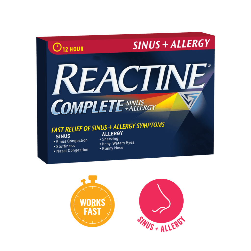 REACTINE® Complete Sinus + Allergy