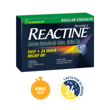 Reactine Regular Strength , 36 tablet packages
